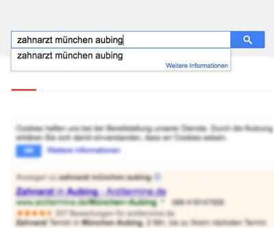 Zahnarzt München als Beispiel für die Zahnarzt-Suche online